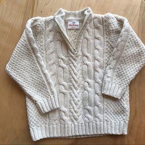 Hanna Andersson cream coloured quarter zip